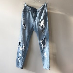 urban outfitters destroyed boyfriend jeans
